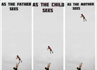When A Kid In Thrown In The Air How The Father Sees It Vs How The Mother Sees It