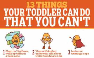 13 Things Your Toddler Can Do But You Can't