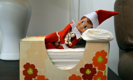 Elf sleeps with his eyes open.