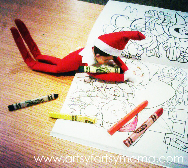 Even Elves like to color.