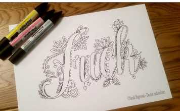 Having A F%*#ing Bad Day? Color An Adult Swearing Coloring Book
