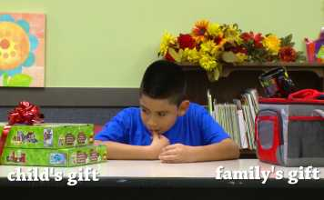 Adorable Kids From Low Income Families Choose Between Presents For Themselves Or Their Parents