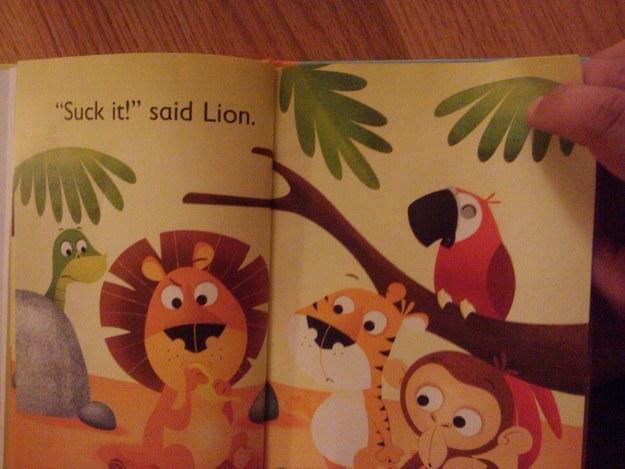 suck it said lion