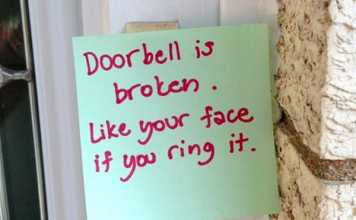 Doorbell Warning Notes Left By Exhausted Moms