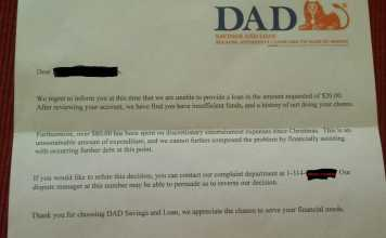 A Dad's Hilarious Response To His Son Asking For An Advance On His Allowance