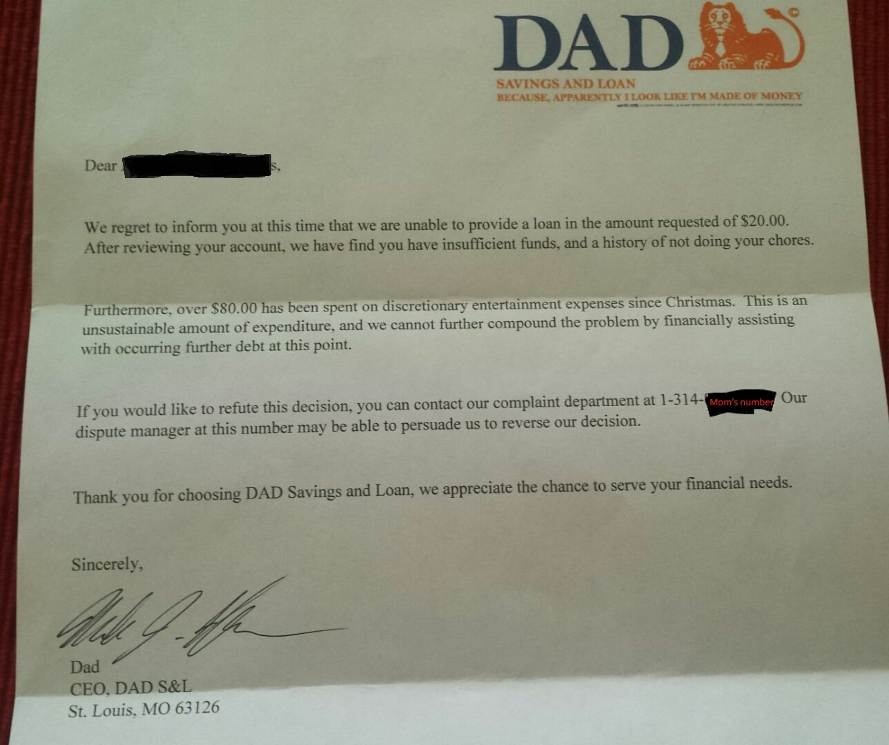 A Six-Year-Old Asks Dad for an Advance On His Allowance For A Toy. The Response Is Hilarious!