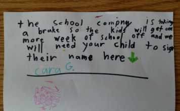 Little Girl Attempts To Extend Her Christmas Break With An Adorable Forged Note