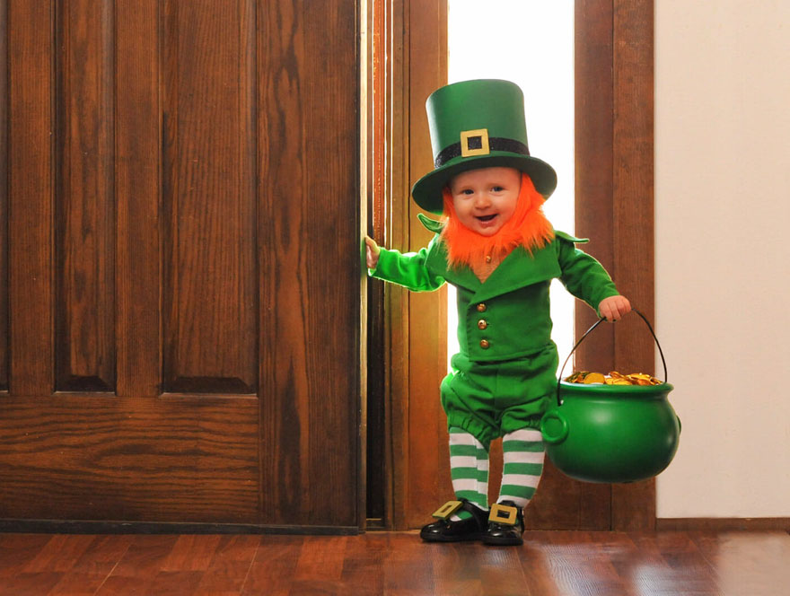 Dad Turns His 6-Month-Old Baby Into A Naughty Leprechaun 1