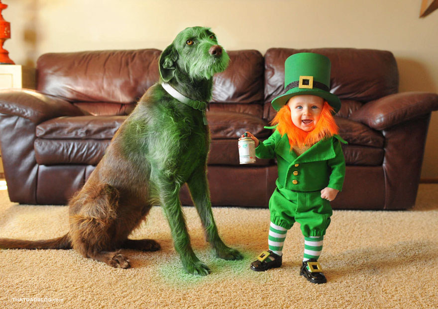 Dad Turns His 6-Month-Old Baby Into A Naughty Leprechaun 2