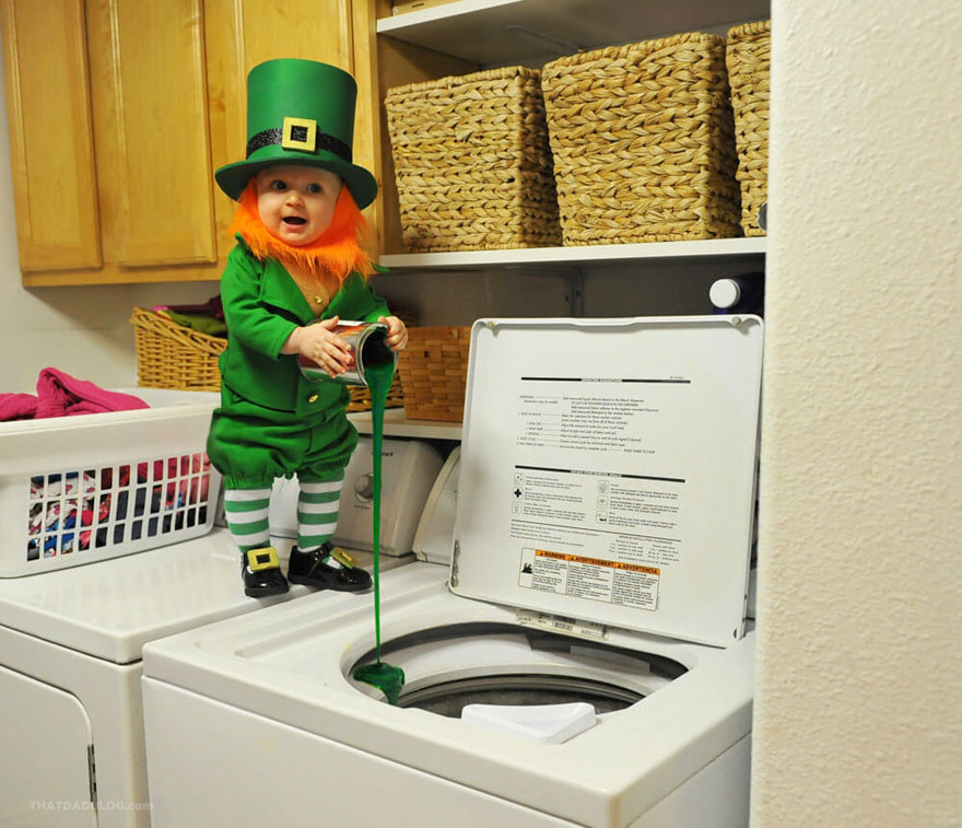 Dad Turns His 6-Month-Old Baby Into A Naughty Leprechaun 3
