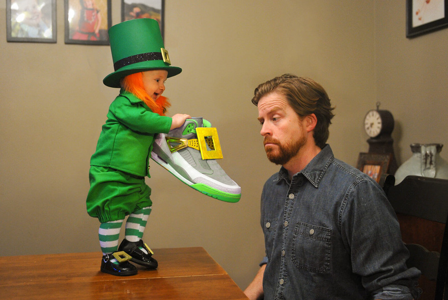 Dad Turns His 6-Month-Old Baby Into A Naughty Leprechaun 7