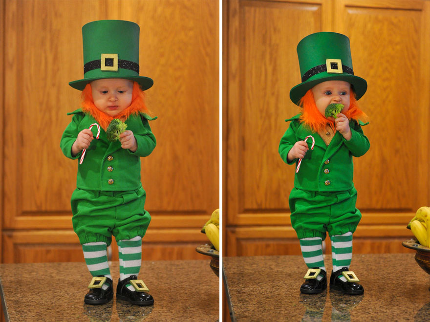 Dad Turns His 6-Month-Old Baby Into A Naughty Leprechaun 8
