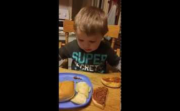 Toddler Refuses To Eat A Sloppy Joe Because He Thinks It's Poop