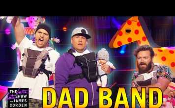 "Ashton Kutcher, Danny Masterson and James Corden Form The Dad Band ""Puff Daddies"""