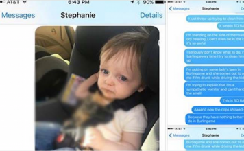 Dads Epic Text Exchange With Wife After Toddler Barfs In The Car