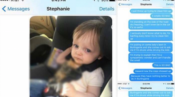 Toddler Barfs In The Car, Dad Freaks, Epic Text Exchange Ensues