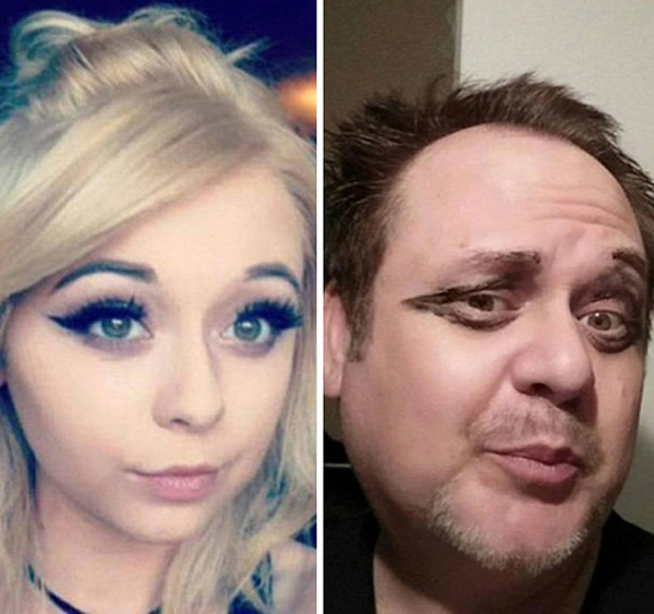 Dad Trolling His Daughter By Hilariously Recreating His Daughter's Selfies 3