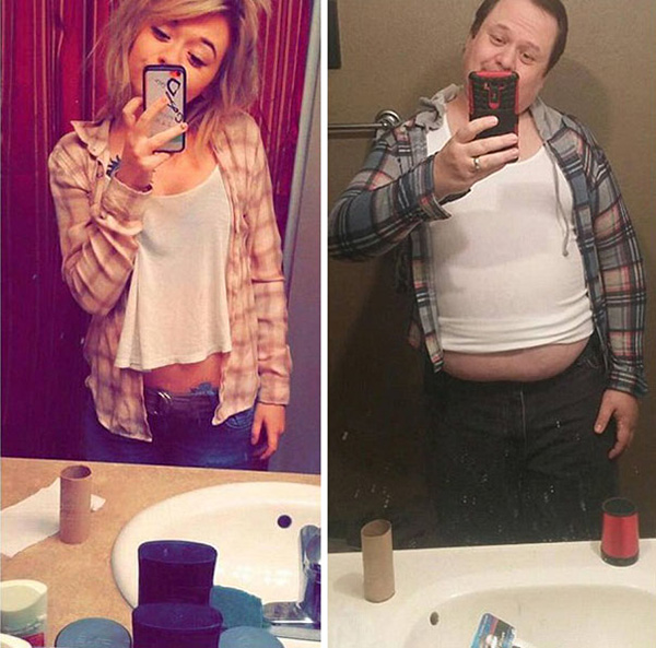 Dad Trolling His Daughter By Hilariously Recreating His Daughter's Selfies 4