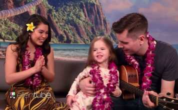 Adorable Father-Daughter Duo Performs 'How Far I'll Go' from Disney's Moana